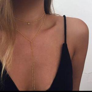 long necklace choker Layering chain